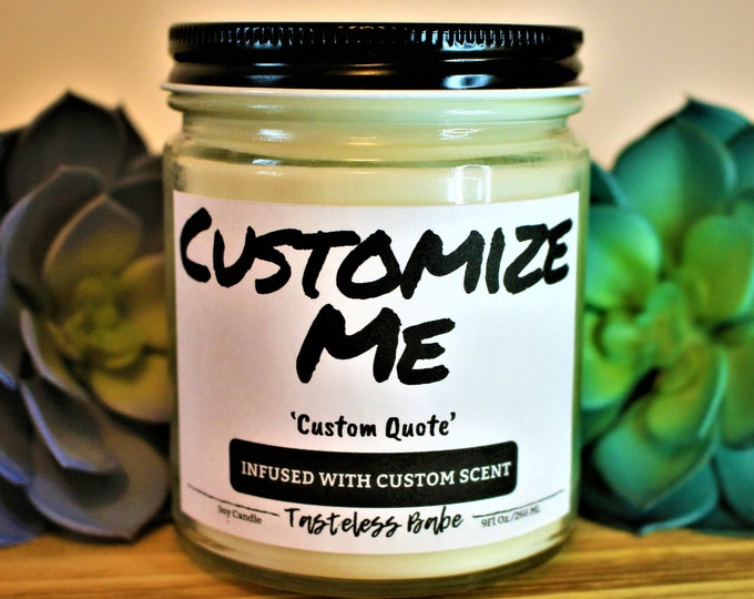 Featured listing image: Custom 9oz All Natural Soy Candle