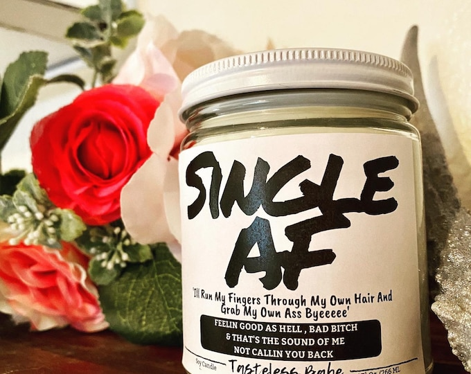 Featured listing image: Single AF 9oz 100% Soy Candle