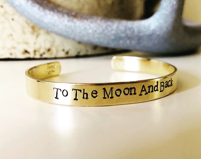 Featured listing image: To The Moon And Back Bangle Valentines