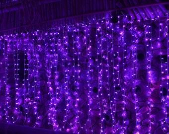 Purple String Light For Halloween Décor | Outdoor Halloween Decorations | Horror Svg Fairy Lights Centerpiece | Unique Lighting Twinkle Star