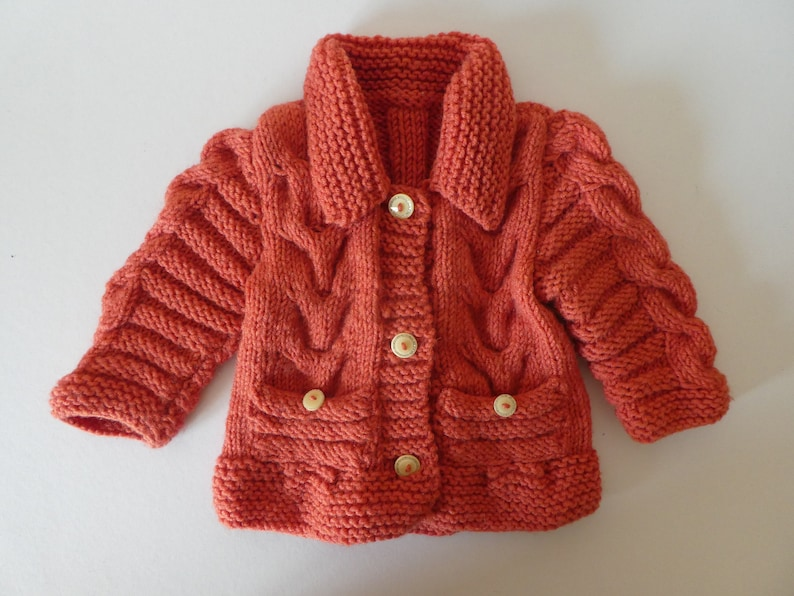 7db78e7c3479 Knitted baby girl   toddler cardigan   jacket Knitted baby