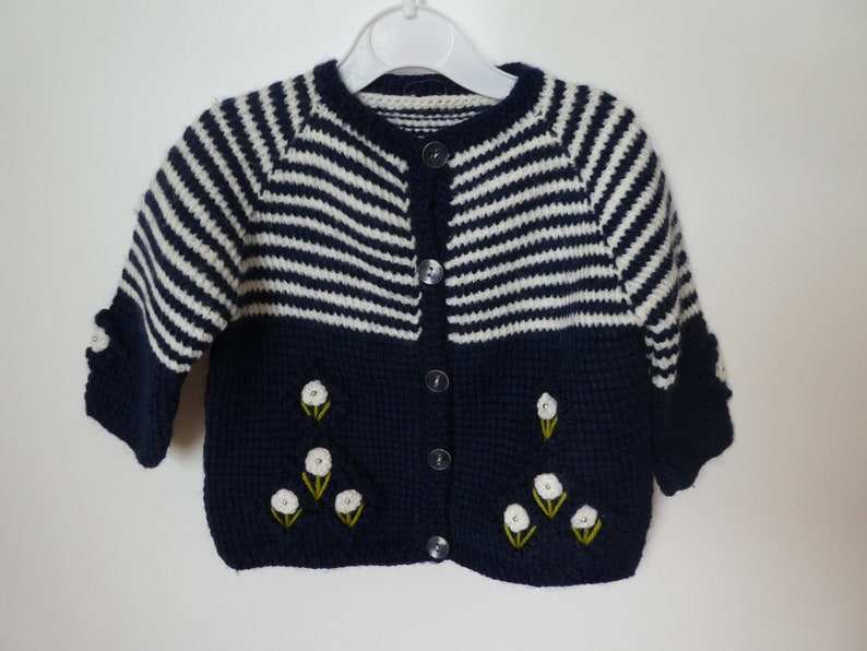 29c6b31d0 Knitted baby girl   toddler cardigan   jacket Knitted baby