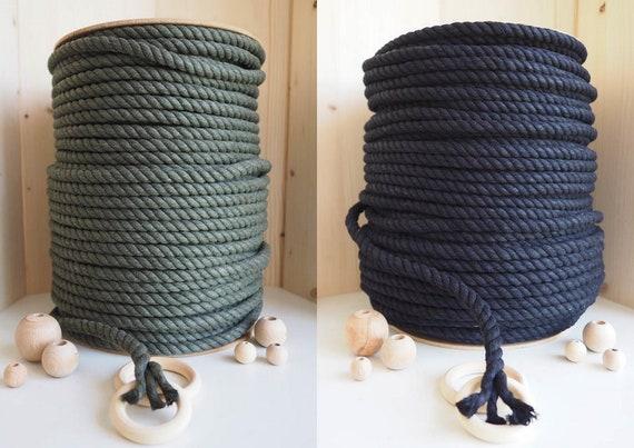 Macrame Craft Cordon Corde 3mm noir 100/% coton bobine cintres dusine noir 3mm art de la fibre D/écorations murales art mural