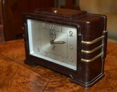 Art deco French 1930s bakelite quot Jaz quot clock