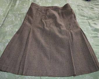s adapter à des pays de tweed style vintage des années 1940 à pied UK jupe-taille  12-14 e631aec2fbe4