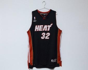 REEBOK Miami Heat  32 Shaquille O Neal NBA Jersey   Basketball Streetwear  Hip Hop Rap Size XL Tank Top ed6a08fe3