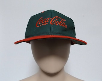 32344b9565e0d 90s COCA COLA Two Tone Snapback Hat   Dad Hat Baseball Hat Trucker Hat  Streetwear Hip Hop Rap One Size Fits All Unisex