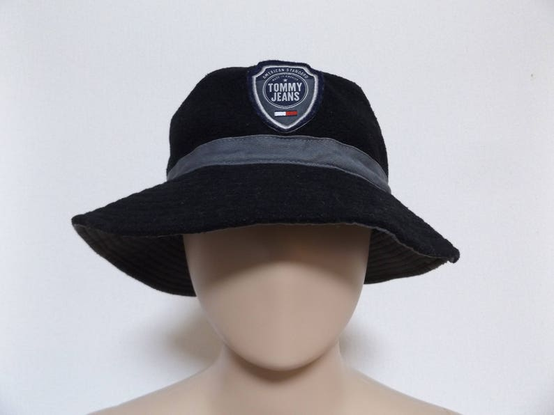 69cb1fc4164 90s TOMMY JEANS Fleece Bucket Hat   Tommy Hilfiger Tommy Girl