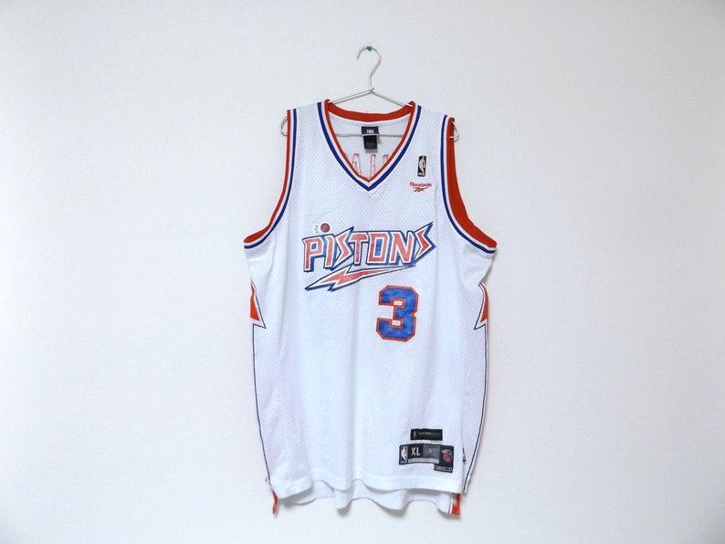 d37e092a5 REEBOK Detroit Pistons 3 Ben Wallace NBA Jersey
