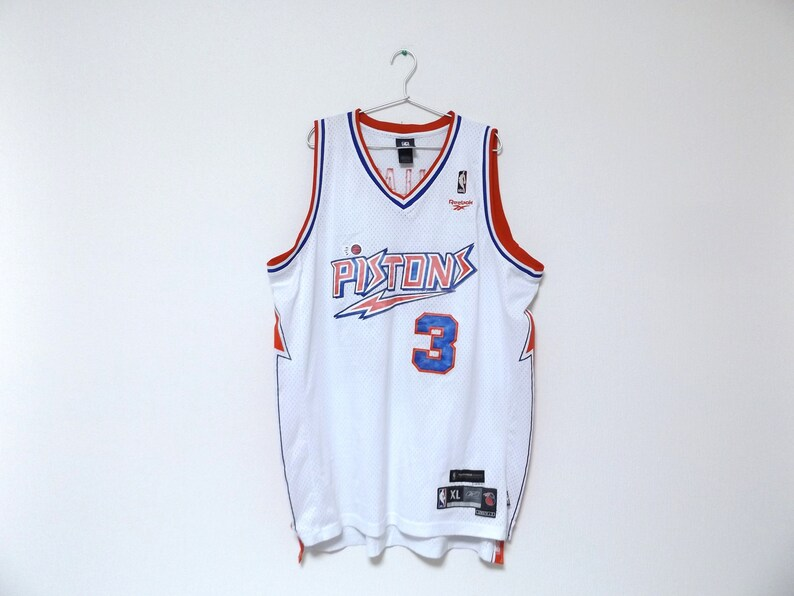 REEBOK Detroit Pistons 3 Ben Wallace NBA Jersey    08c70be31