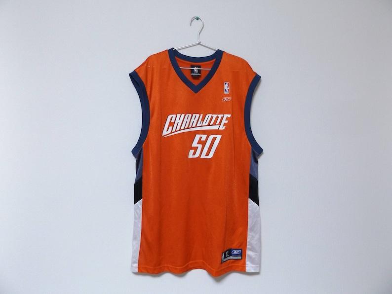 e4b6d5dee REEBOK Charlotte Bobcats 50 Emeka Okafor NBA Jersey