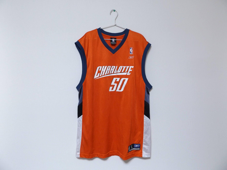 big sale e99f3 02286 REEBOK Charlotte Bobcats #50 Emeka Okafor NBA Jersey / Basketball  Streetwear Hip Hop Rap Size XL Tank Top