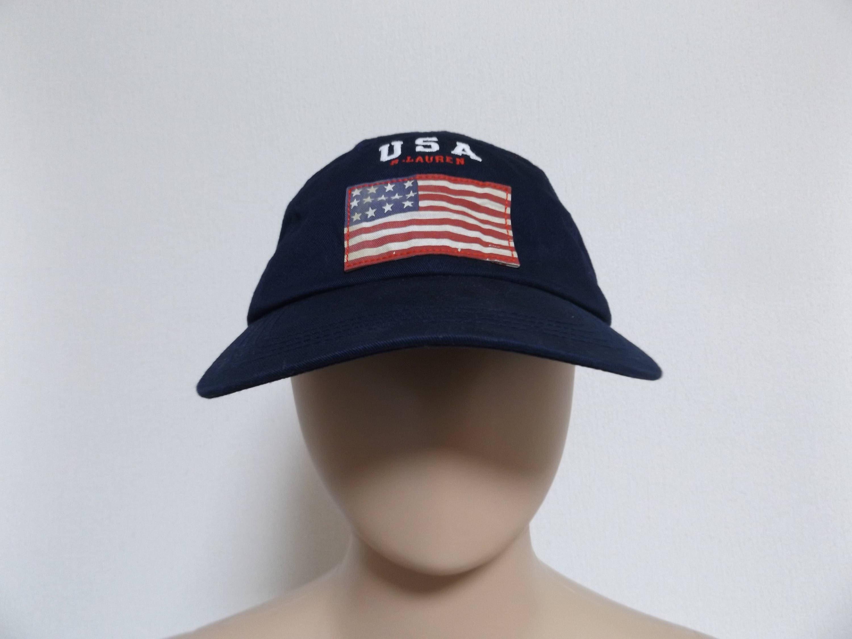 90s Ralph Lauren Strapback Hat   Dad Hat Trucker Hat Baseball  b7ed79d614a