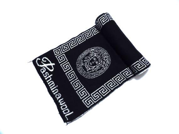 Bootleg VERSACE Knit Scarf   Medusa Hip Hop Rap Streetwear   Etsy b5c7567d5e0