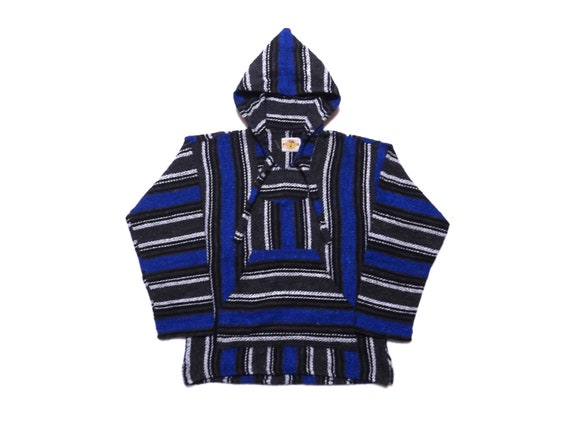 Mexican Poncho Baja Hoodie Surfer Skater Drug Rug Jacket Made in Mexico Unisex