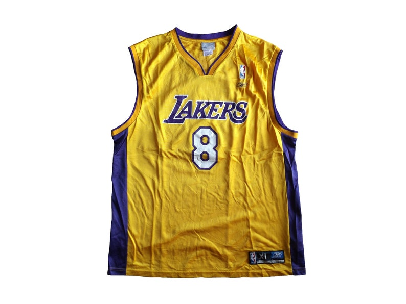uk availability 34d11 8e03a Reebok Los Angeles Lakers #8 Kobe Bryant Jersey / NBA Basketball Jersey  Streetwear Hip Hop Rap Size XL