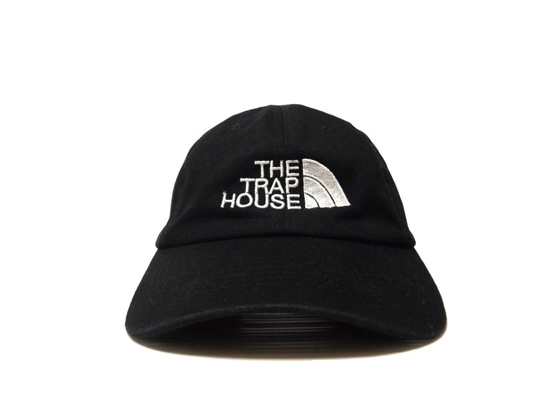 THE TRAP HOUSE Black Adjustable Strapback Hat   The North Face  6dfc359232d
