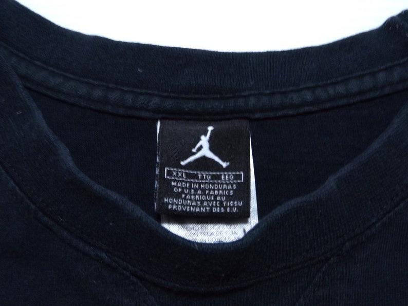 ddd7df1ec594e1 90s AIR JORDAN Printed T-shirt   Oversized Black Jordan Tee