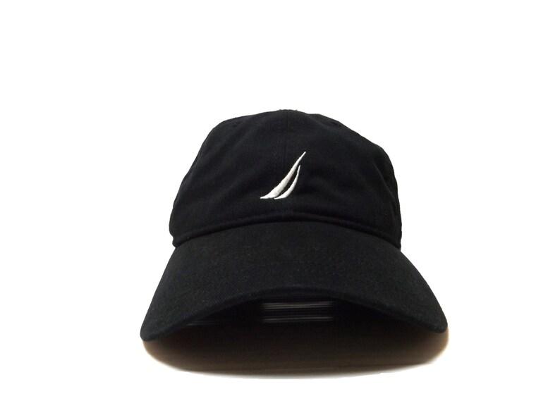 881540265 NAUTICA Black Adjustable Strapback Hat / Dad Hat Baseball Cap Streetwear  Hip Hop Rap One Size