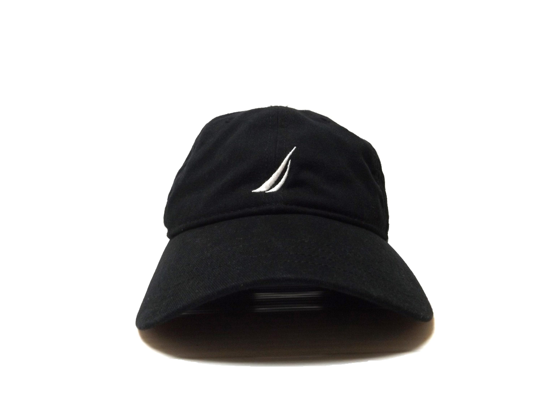 NAUTICA Black Adjustable Strapback Hat   Dad Hat Baseball Cap  57ec162be72