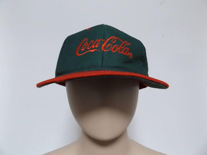 f5bb31083 90s COCA COLA Two Tone Snapback Hat / Dad Hat Baseball Hat Trucker Hat  Streetwear Hip Hop Rap One Size Fits All Unisex