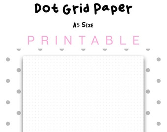image relating to Printable Dot Grid named Printable Dot Grid Paper Letter Sizing Dotted Paper Bullet Etsy