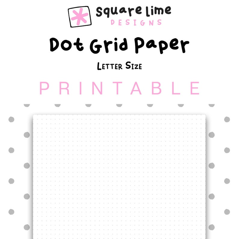 picture about Printable Dotted Paper referred to as Printable Dot Grid Paper, Letter Measurement Dotted Paper, Bullet Magazine, PDF Printable