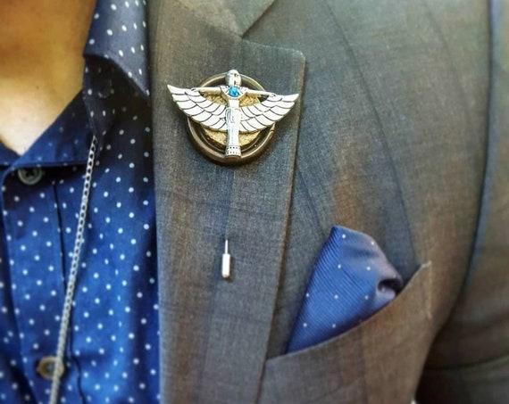 Egyptian Deity - Luxury Handmade Artisan Lapel Pin