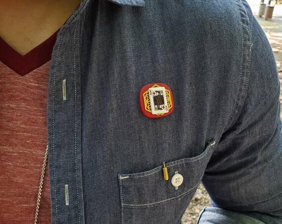 King of Diamonds - Luxury Handmade Artisan Lapel Pin