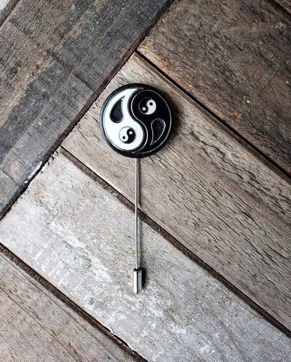 Yin & Yang-Luxury Hand Made Artisan Lapel Pin