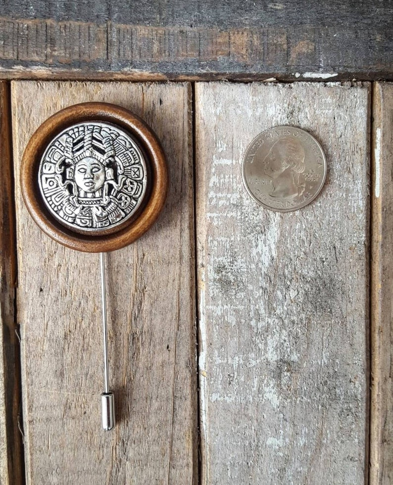 Mayan Calendar-Luxury Hand Made Artisan Lapel Pin