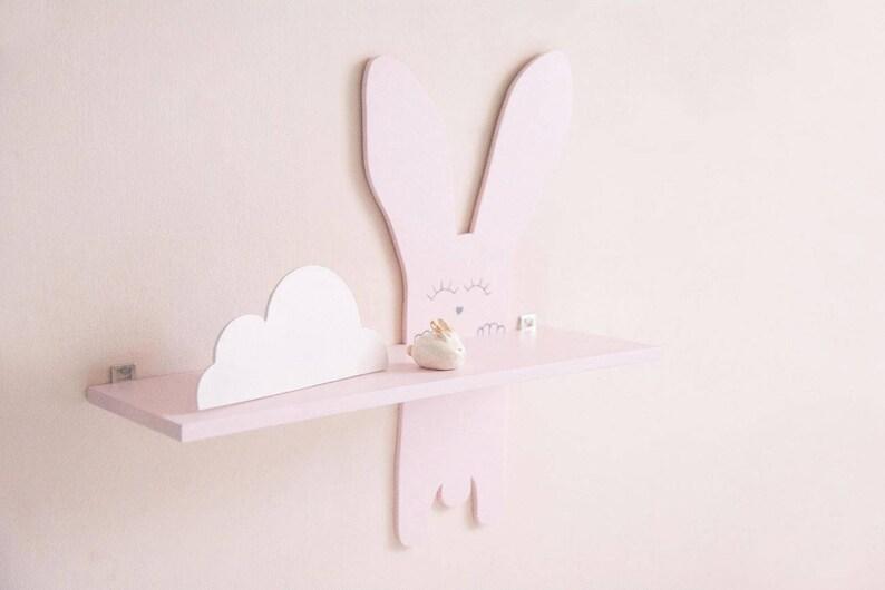 Zwevende Plank 30 Cm Diep.Bunny Kinderkamer Plank Zwevende Plank Konijn Kinderen Kamer Etsy