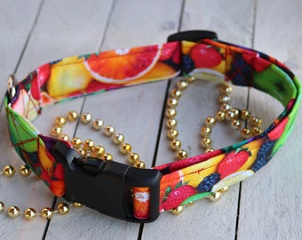 Fruit Smoothie Fabric Dog Collar/ Pet collar/ Fruit