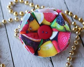 Fruit Smoothie  Medium Dog Flower Collar Attachment/ Fruit