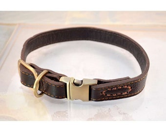 Leather Paws Quick Release Leather Collar