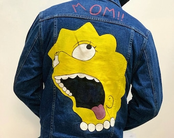 2090884e Lil Peep Tattoo Hand Painted Denim Jacket Custom Art Jacket