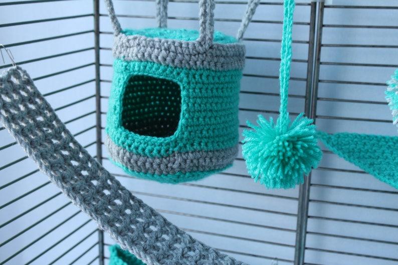 8 Pieces Sugar glider cage set Sugar glider house Sugar glider Hammock Sugar glider bonding pouch Sugar glider cage toys Sugar bear set
