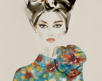Giclée print 'Liz' Fashion Illlustration
