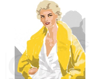 Fashion illustration, Giclee Print, A3, Wall Art