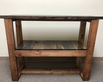 Rustic Reclaimed Wood Console Table