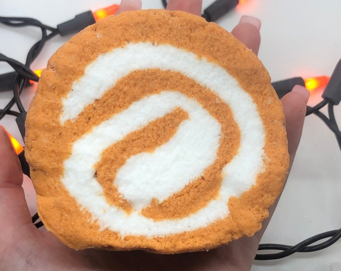 Featured listing image: Pumpkin Roll 8 oz - Scented Cloud Slime DO NOT EAT Food Inspired