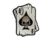 Skull Patches Hippie Biker Applique Sew Embroidered Iron on Patch