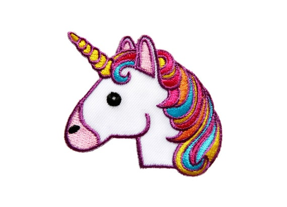 3-Pack, Iron on Pink Hair Unicorn Applique Patch