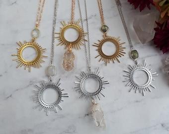 smoky quartz geometric necklace,black onyx,brass,modern,black gemstone,triangle pendant,boho long statement necklace,beaded,layering,witchy