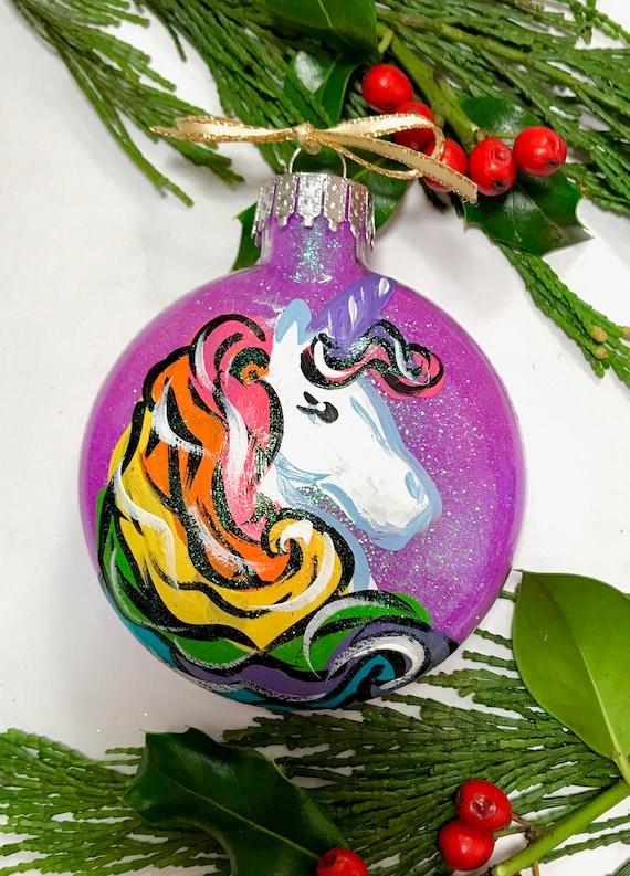 Personalized Unicorn Ornament Unicorn Gift for Girls | Etsy