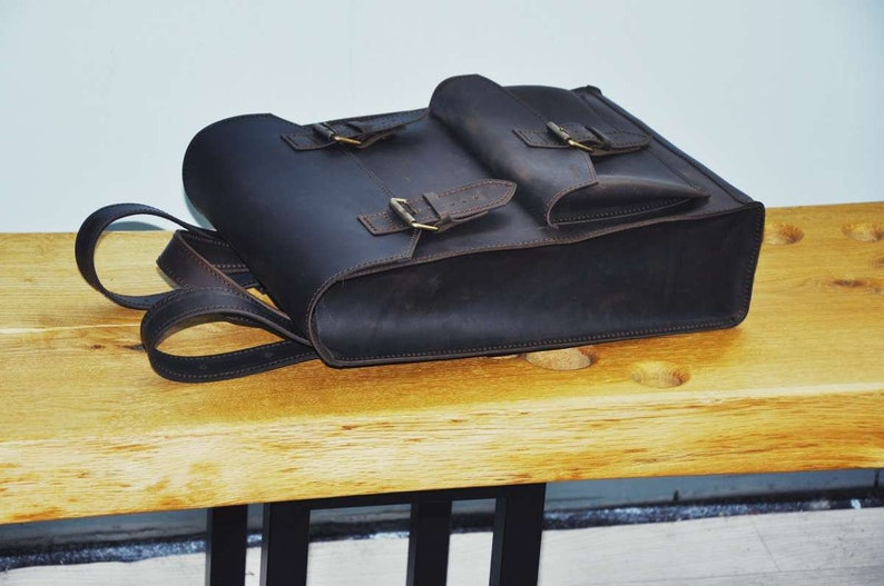 Leather backpack for Women Genuine Leather Purse Bag Unisex backpack Laptop 13 backpack