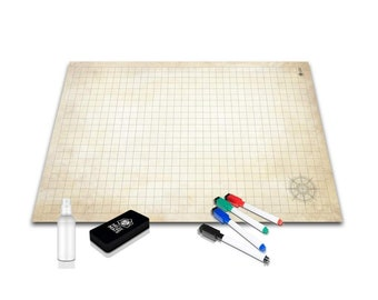 Battle Grid Game Mat - 24x36 Ultra Durable Polymer Material - Role Playing DnD Map - Reusable Tabletop Square Mats - RPG Dungeons