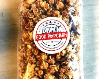 Gourmet Caramel Pecan Popcorn Small Batch Artisan Popcorn One 8 oz Bag