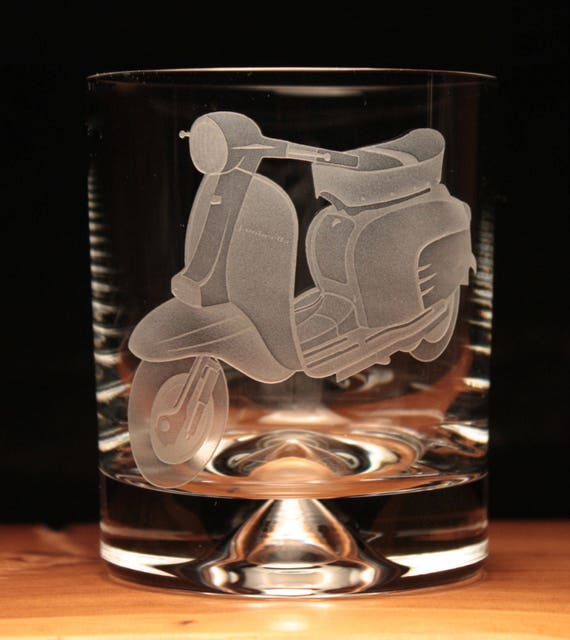 Personalised Engraved Scooter Pint Glass New Lambretta Vespa