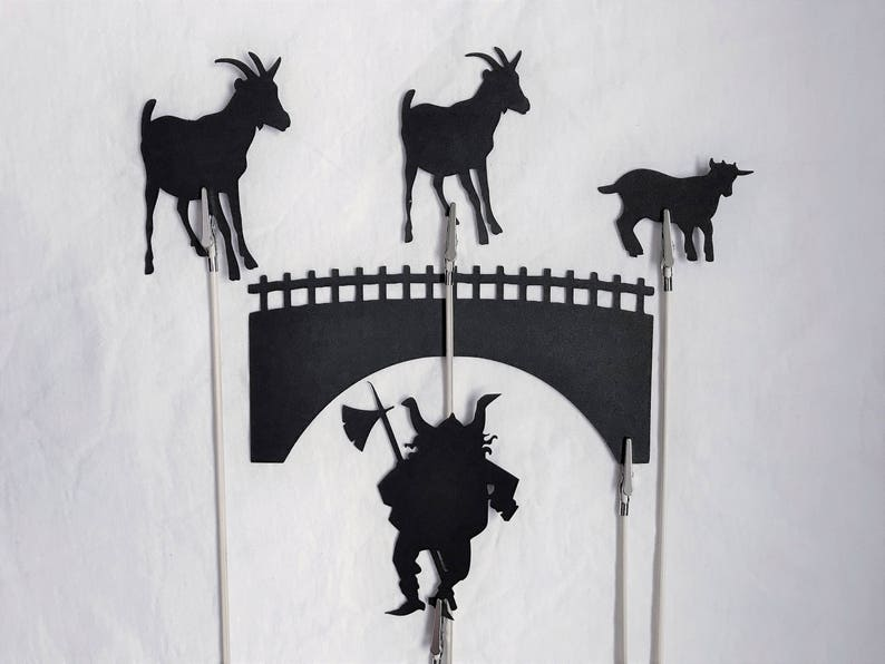 The Three Billy Goats Gruff Shadow Puppets image 0